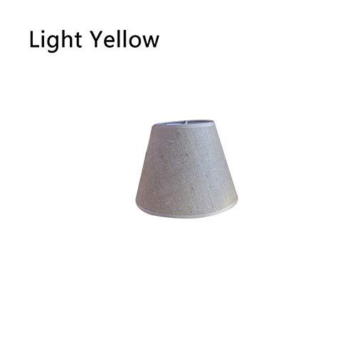 Coner stoffen kap moderne lichtkap voor wandlamp Tafellamp Woondecoratie Stoffen lampenkappen Art Deco massieve lampenkap, lichtgeel