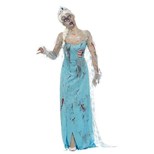 SMIFFYS Costume zombie morto assiderato, Blu, con vestito, costole in lattice e diadema