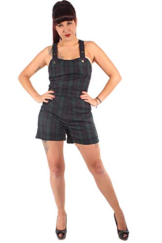 SugarShock Damen Rockabilly Schottenkaro Jumpsuit 157107636