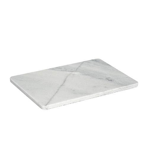 Argon Tableware Piatto da Portata in Marmo a Forma Rettangolare - Bianco - 300 x 200 mm