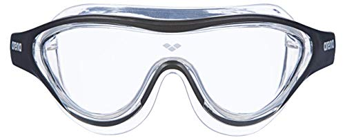 ARENA Unisex – Erwachsene Schwimmbrille The One Mask, Clear-Black-transparent, TU