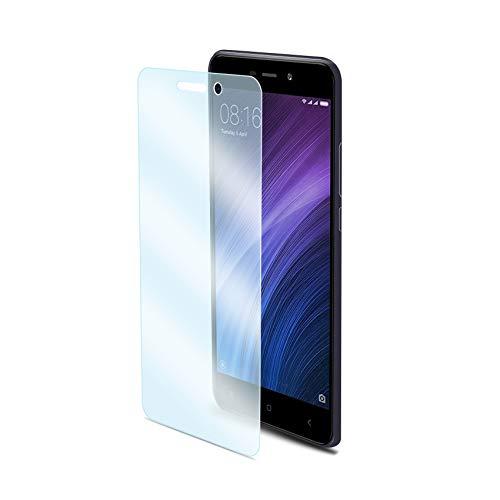 Celly Protector de Pantalla para Xiaomi Redmi 4A, Vidrio Cristal Templado Dureza 9H Antihuellas y Antiarañazos