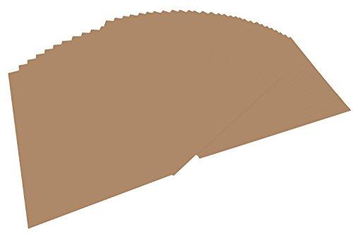 folia 614/50 75 - Fotokarton DIN A4, 300 g/qm, 50 Blatt, rehbraun - zum Basteln und kreativen Gestalten von Karten, Fensterbildern und für Scrapbooking