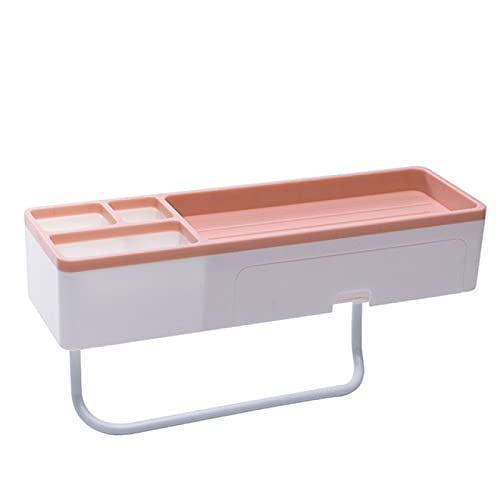 FSSQYLLX Estante de Almacenamiento de baño Estantes de Almacenamiento de Ducha de Montaje en Pared con cajón Barra de Toalla Soporte de Ducha Organizador de baño