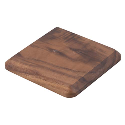 GUAngqi Wood Coasters for Drinks Insulation Pads Wood Coasters Set Cup Holder,Square,10101.2cm