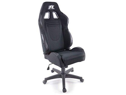 FK-Automotive Bürostuhl Racecar schwarz