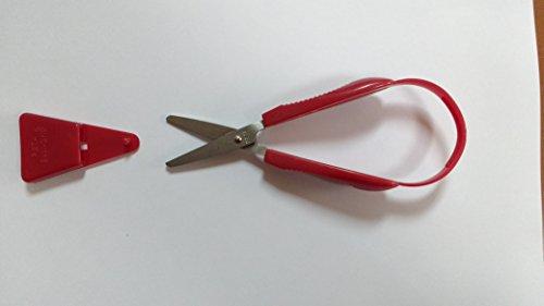Stirex Tijeras pequeñas, continuas, cómodas y fáciles de usar, adecuadas para usuarios diestros y zurdos, autoapertura, fuerza limitada, agarre débil, ayuda para la vida diaria, funda protectora
