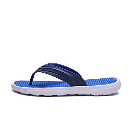 YYSH New Hombres Zapatos Hombres Flip Flops Playa Sandalias Antideslizantes Pareja Zapatos Casuales 0103 (Color : Blue, Shoe Size : 40)