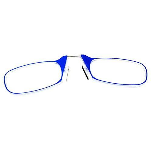 hinffinity Lesebrille Mini Nasenclip Seniorenbrille Tragbare Armlose Lesebrille Mit Kartenetui Unisex Superleicht Tragbar Grad 1.0 Bis 3.0 Für Senioren Senioren Männer Frauen