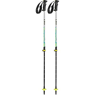 LEKI Vario XS Speed Lock Hiking Poles, Grey/Cyan/Neon Yellow/Black
