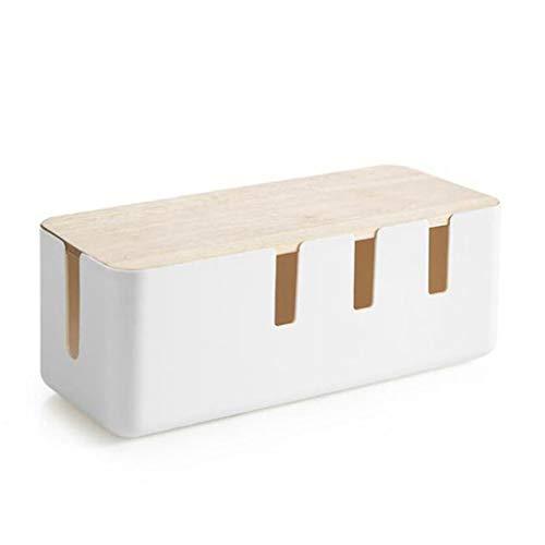 Caja de Almacenamiento de Cables Cuadro de distribución Buje de Cables Caja de Almacenamiento de Cargador de Polvo (Blanco)