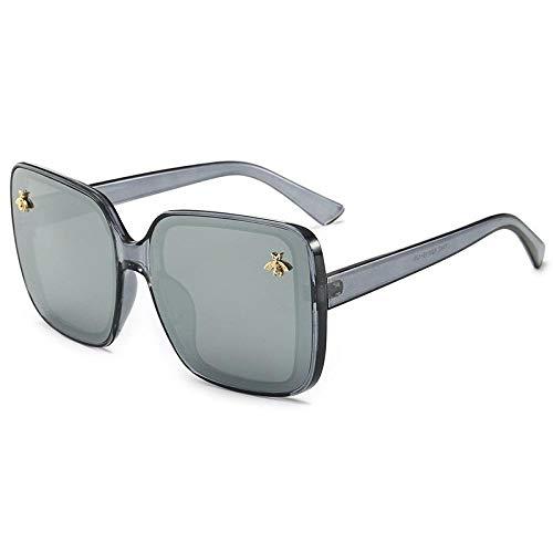 HPPSLT - Gafas de sol polarizadas Mirror, gafas de sol Little Bee, gafas de sol cuadradas elegantes europeas y americanas 5