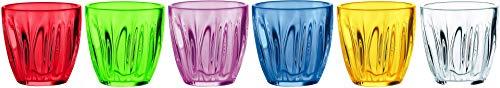 Guzzini Aqua Set 6 Bicchieri Multicolor