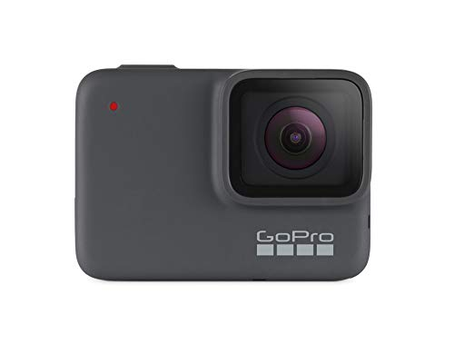 GoPro HERO7 Silver - Cámara de acción digital sumergible con pantalla táctil, video 4K HD y fotos de 10 MP
