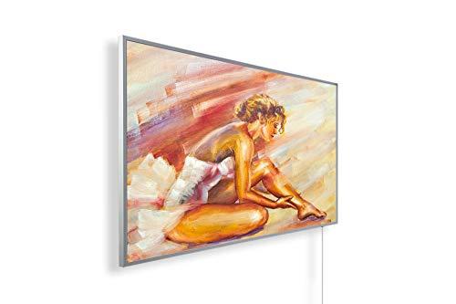 Könighaus 600W/800W/1000Watt Infrarot Bildheizung Ölgemälde (Infrarotheizung mit hochauflösendem Motiv) (1000W-ÖL24 Frau beim Eincremen) - inkl. Thermostat