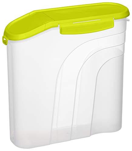 Rotho Fresh Müslibox 4.1 l, Kunststoff (BPA-frei), Transparent/Grün, 4,1 Liter (26,5 x 10 x 26 cm)