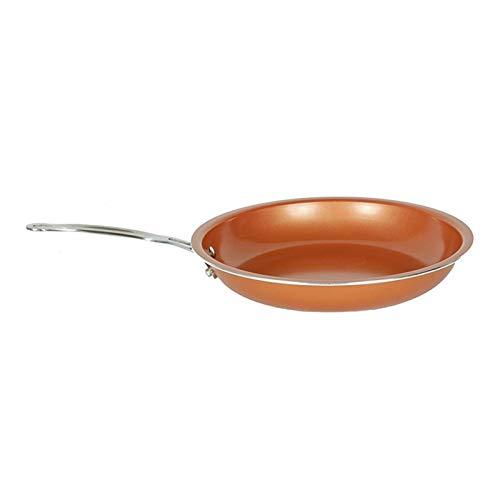 Sartén antiadherente Sartén de cobre con recubrimiento de cerámica fácil de limpiar sartén sartén duradera herramienta de cocción de sartén antiadherente (Size : 24CM)