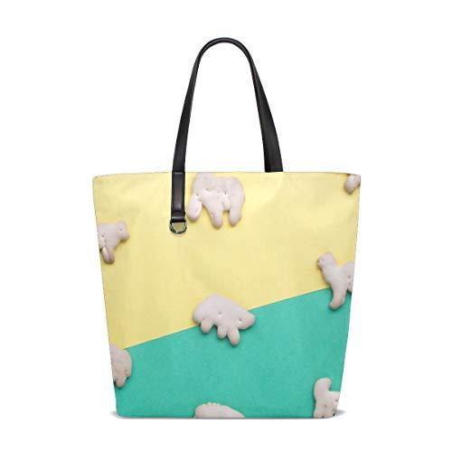 NaiiaN Geldbörse Einkaufen Blume Kamel Elefant Tier Keks Leichter Riemen Handtaschen Umhängetaschen für Frauen Mädchen Damen Student Einkaufstasche