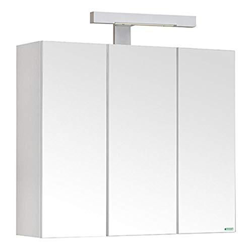 Allibert Spiegelschrank mit Beleuchtung Pian'o 52x60x18cm