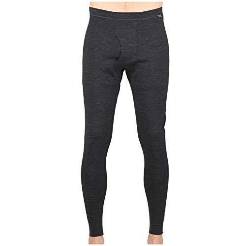 MERIWOOL Men's Base Layer Bottoms - Lightweight Merino Wool Thermal Pants Charcoal Gray
