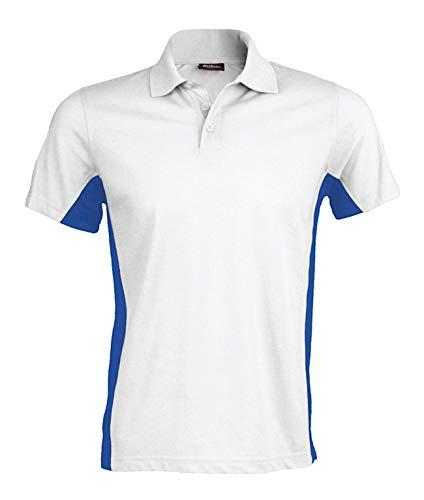 Kariban Poloshirt in Kontrastfarben K232, Größe:3XL;Farbe:White/Royal Blue