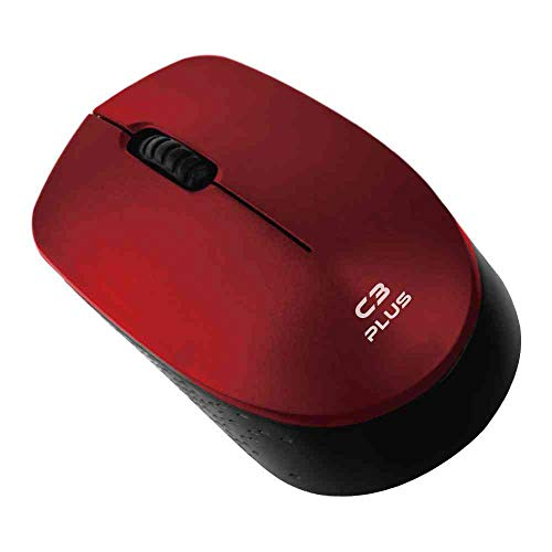 Mouse sem Fio C3Plus, M-W17Rd, Vermelho