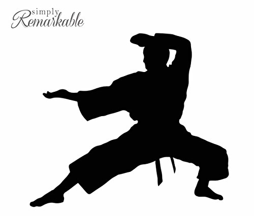 Vinyl Decal Sticker for Computer Wall Car Mac Macbook and More Sports Sticker - Karate Decal - Size 5.2 x 4.6 inches