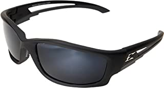Edge Eyewear TSK21-G15-7 Kazbek Polarized Safety Glasses, Black with G-