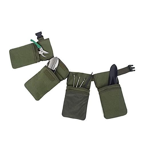 Bolsa de Cinturón de Herramientas Multifunción Canvas Garden Durable Bolsa de cintura Herramienta Fanny Pack Pocket Tool Almacenamiento Cinturón de almacenamiento Herramientas de jardín Beltls Conveni