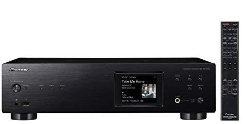 Pioneer N-70AE(B) Lettore di rete (Multiroom, Wifi, Bluetooth, Streaming, Applicazioni musicali, Internet Radio, Hi-Res Audio, Display LCD a colori, Pannello frontale in alluminio), nero
