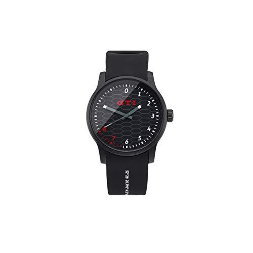 Volkswagen Reloj de Pulsera analógico GTI, Color Negro 5HV050830