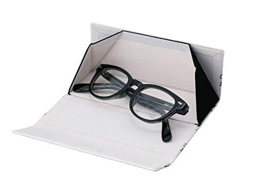 カミオジャパンパールメガネケーススヌーピー白セミハード折りたたみマグネット式クロス付きこっちむいて