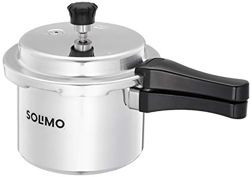 Amazon Brand - Solimo Aluminium Outer Lid Pressure Cooker 3 L (Non- Induction Base)