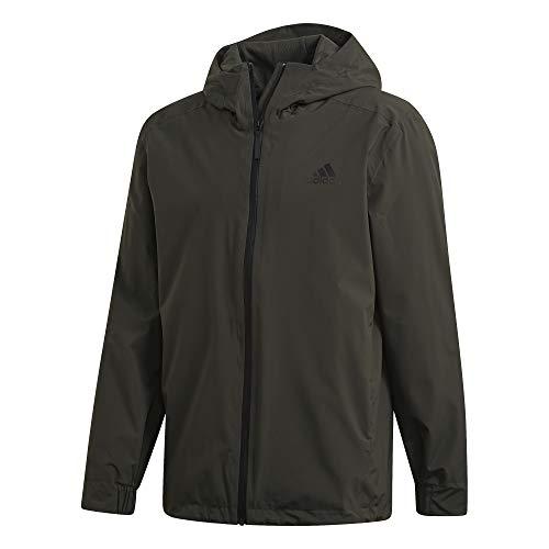 adidas Herren BSC 3S RAIN.RDY Sport Jacket, Legend Earth, XL