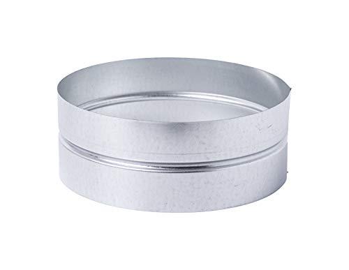 Manguito de 250 mm de diámetro – Conector – Tubo de ventilación redondo de chapa de acero galvanizado (DN 250).
