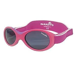 Mausito® Gafas de sol bebé niña 0 Meses-1,5 años I FLEXIBLES gafas de sol para bebés con suave soporte para la nariz I 100% PROTECCIÓN UV I Gafas de sol para niños con BANDA AJUSTABLE I rosado