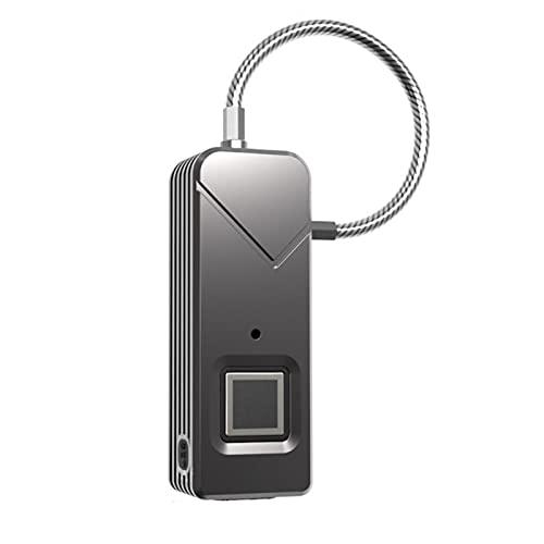Candado de huella dactilar inteligente candado sin llave de seguridad portátil de desbloqueo rápido maleta mochila cerradura de cajón para la escuela casillero puerta gabinete maleta mochila