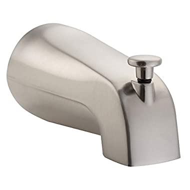 PULSE ShowerSpas 3010-TS-BN Bathtub Spout Valve with Diverter, 1/2  NPT Connection, Brushed-Nickel