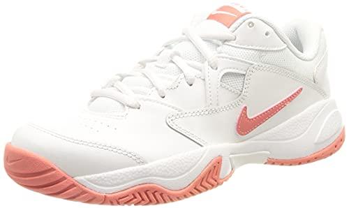 Nike NikeCourt Lite 2, Scarpe da Tennis Donna, White/Pink Salt, 39 EU