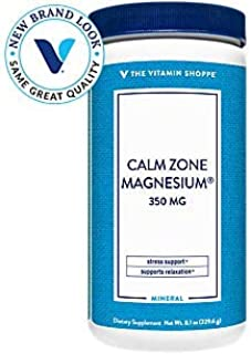 The Vitamin Shoppe Calm Zone Magnesium Mineral Powder, 325mg Unflavored, Relaxation Drink for Muscles, Digestive Bone Supp...