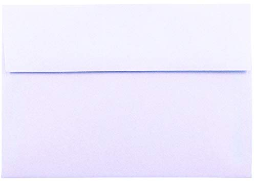 Light Orchid Purple Pastel 50 Boxed (5-1/4 x 7-1/4) A7 Envelopes for 5 X 7 Invitations Announcements from The Envelope Gallery