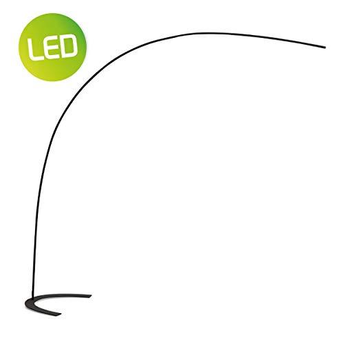 Home sweet home vloerlamp LED curve ? 210 cm zwart