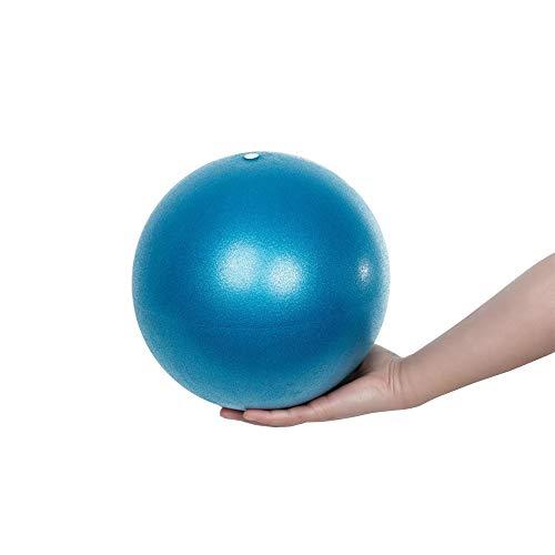 Mini Pelota de Yoga, Pelota para Pilates y Yoga de Resistencia Estática, Textura Antiderrapante. Incluye Tubo de soplado, Ideal para Ejercicios de Estabilidad, Equilibrio y Abdomen (25 cm diámetro)