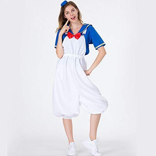 YyiHan Halloween Kostüm, Prom Kleid Frauen Anime Marine Matrose Donald Duck Spiel Klage Cosplay Make-up Halloween-Parteikostüm Bühnenkostüm