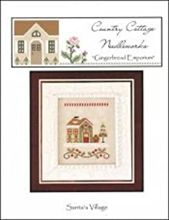 gingerbread village country cottage needleworks