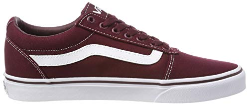 Vans Herren Ward Sneakers, Rot (Canvas) Port Royale/White 8j7, 43 EU