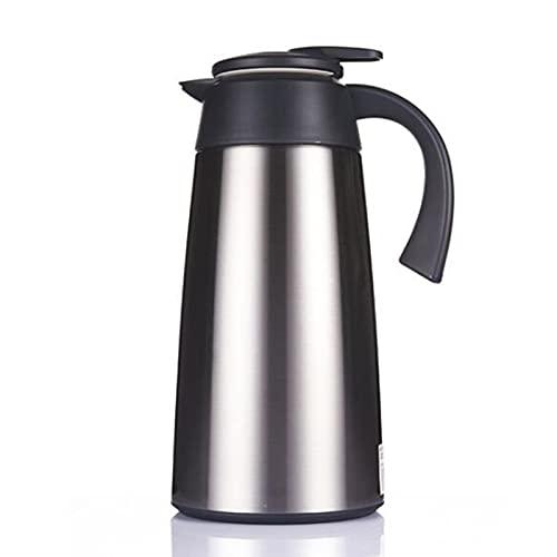 LANGCA Cafetera de Aislamiento, Botella de Agua de Frasco térmico, Base Antideslizante/Sello y Fugas, Aislamiento de aeropuertos Café Bebida Caliente,Plata