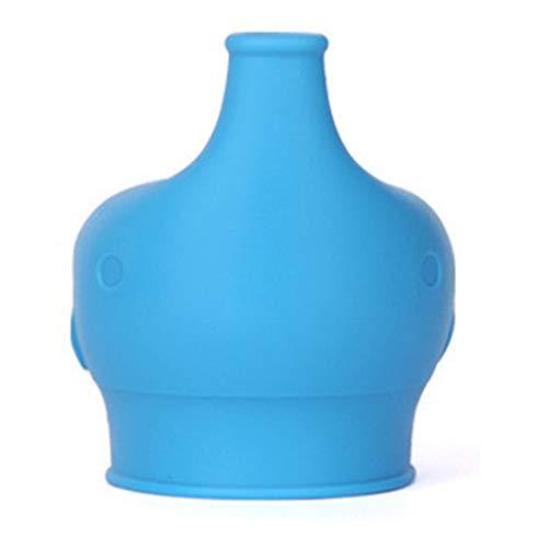 aixu Elefante De Silicona Tapa De La Taza para Sorber Cubierta De La Taza A Prueba De Derrames Bebés Herramienta para Beber Azul