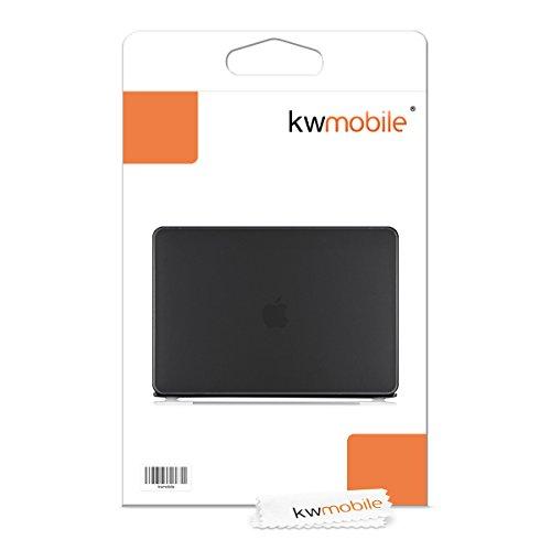 "kwmobile Carcasa Dura de Laptop para Apple MacBook Pro 13"" (sin Retina) - Negro - Funda Fina de Goma"