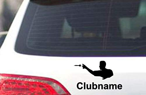 Generic Dart Aufkleber Club oder Auto Aufkleber Dartpfeile Aufkleber Dartspielen (139/1) (25cm, weiß Glanz)